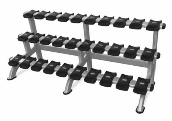 Nautilus Inspiration Triple Dumbbell Rack